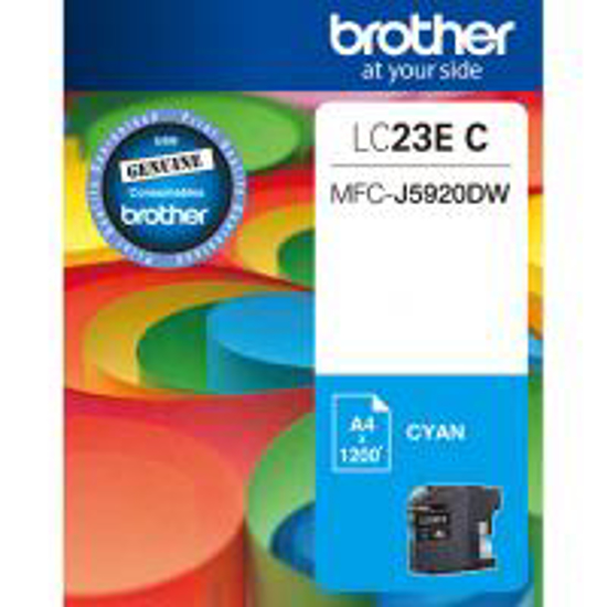 Picture of Brother LC-23E Cyan Ink Cartridge