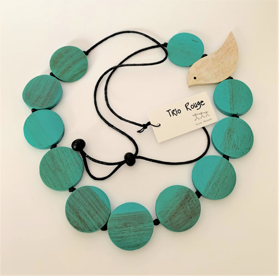 Picture of TRIO ROUGE NECKLACE AQUA BIRD