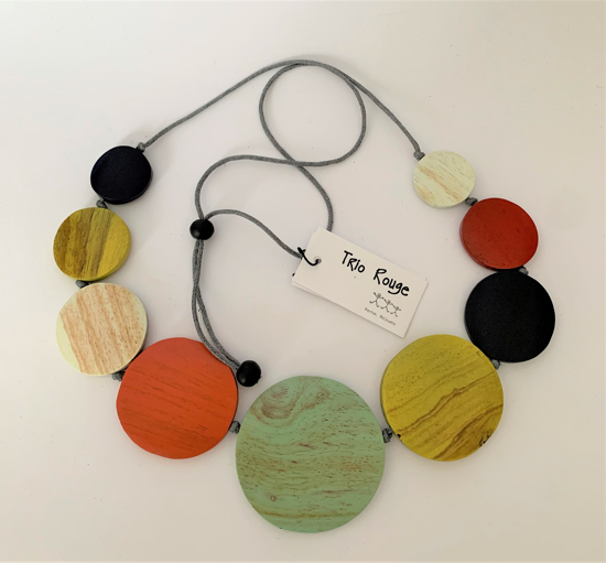 Picture of TRIO ROUGE NECKLACE MULTI CIRCLE