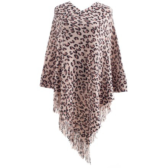 Picture of Poncho - Pink Leopard Print