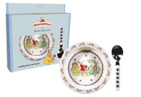 Picture of Bunnykins Feeding Bowl & Spoon - Shining Stars